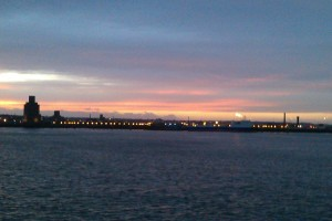 A view of the Wirral, from Albert Docks, Liverpool -- taken during one of my walks