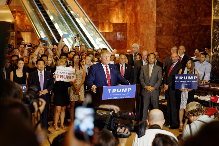 Donald Trump pledges loyalty to the GOP – Michael Vadon/Wikimeida